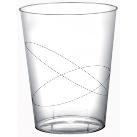 Vaso de Plastico Moon Transparente PS 320ml (20 Uds)
