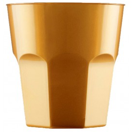 Vaso Plastico para Cocktail Oro PS  Ø73mm 220ml (500 Uds)