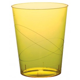 Vaso de Plastico Moon Amarillo Transp. PS 350ml (20 Uds)