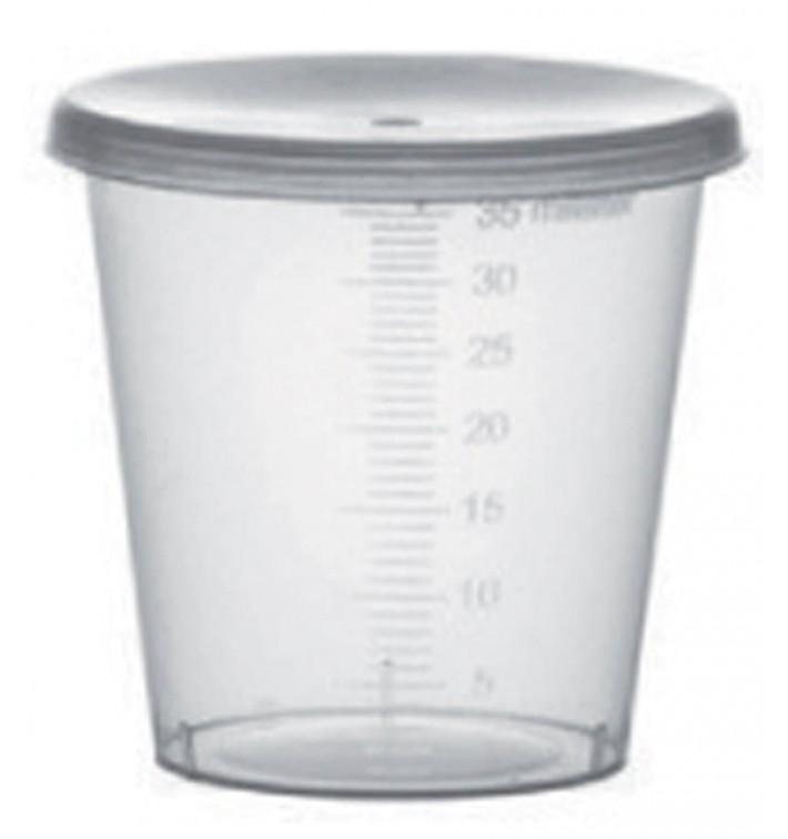 Tapa Vaso Graduado PP Transp. 35ml Ø4,5cm (250 Uds)