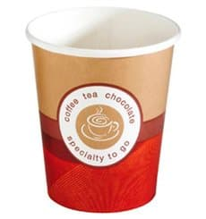 "Vaso Cartón 9 Oz/270ml ""Specialty to Go"" Ø8,0cm (50 Uds)"