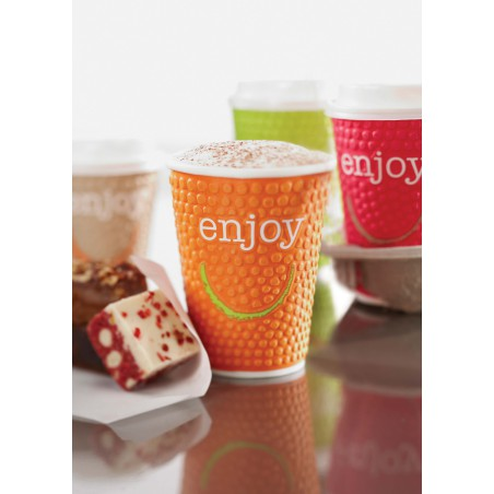 "Vaso Cartón 9 Oz/270ml ""Enjoy"" Ø8,0cm (30 Uds)"