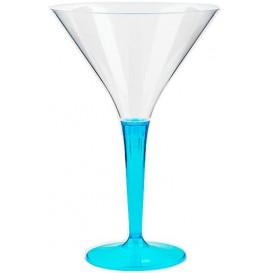 Copa de Plastico Cocktail Pie Turquesa 100 ml (6 Uds)