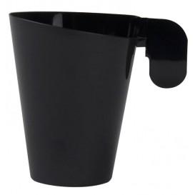 Taza de Plastico Design Negra 72ml (12 Uds)