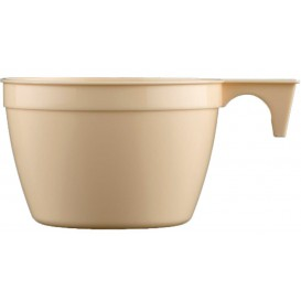 Taza de Plastico PP Cup Beige 190ml (25 Uds)