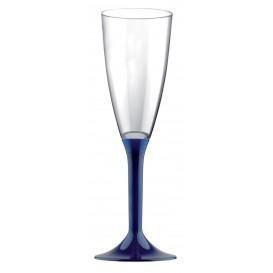 Copa de Plastico Cava con Pie Azul 120ml (200 Uds)