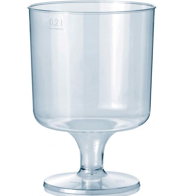 Copa con Pie de Plastico 200 ml (10 Uds)