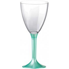 Copa Plastico Vino Pie Tiffany Perlado 180ml 2P (20 Uds)