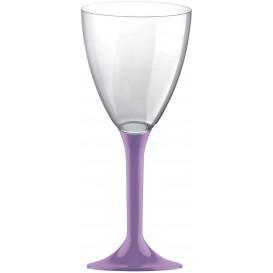 Copa de Plastico Vino con Pie Lila 180ml (20 Uds)
