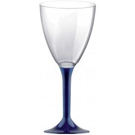 Copa de Plastico Vino con Pie Azul 180ml (200 Uds)