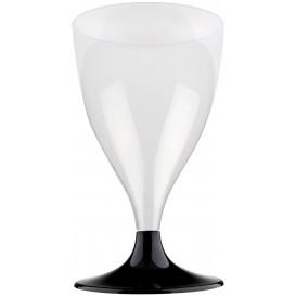 Copa de Plastico Vino con Pie Negro 200ml (20 Uds)