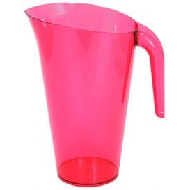 Jarra Plástico Frambuesa Reutilizable 1.500 ml (20 Unidades)