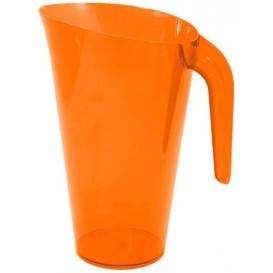 Jarra Plástico Naranja Reutilizable 1.500 ml (20 Unidades)
