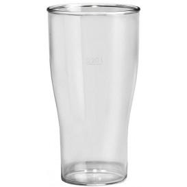 Vaso Reutilizable SAN Cerveza Transparente 400ml (80 Uds)