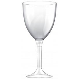 Copa Plastico Vino Pie Transparente 300ml 2P (200 Uds)