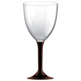 Copa de Plastico Vino con Pie Marron 300ml (200 Uds)