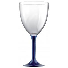 Copa de Plastico Vino con Pie Azul 300ml (200 Uds)
