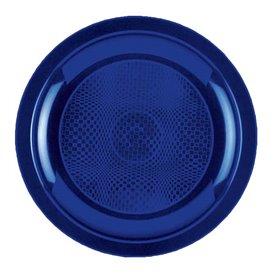 Plato de Plastico Llano Azul Round PP Ø185mm (600 Uds)