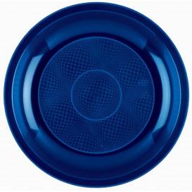 Plato de Plastico Llano Azul Round PP Ø220mm (600 Uds)