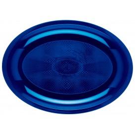 Bandeja Ovalada Azul Round PP 315x220mm (300 Uds)
