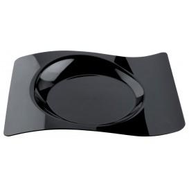 Plato Degustacion Forma Negro 22x18 cm (180 Uds)