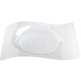"""Plato de Plastico """"Forma"""" Transparente 28x23 cm (12 Uds)"""