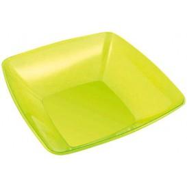 Bol de Plastico Cuadrado Verde 28x28cm (1 Uds)