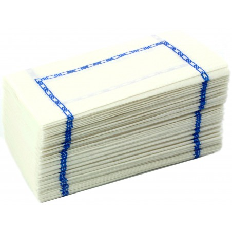 Servilleta de Papel 14x14 Zigzag Azul (25.000 Uds)