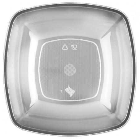 Plato de Plastico Hondo Transparente 180mm (25 Uds)