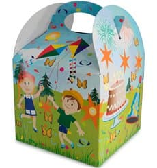 Caja de Menu Infantil Fiesta 131x131x115mm (250 Uds)