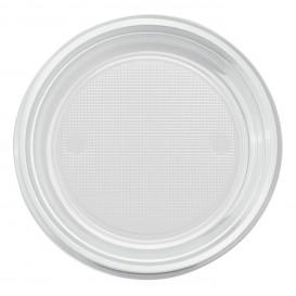 Plato de Plastico PS Llano Transparente Ø170mm (1100 Uds)