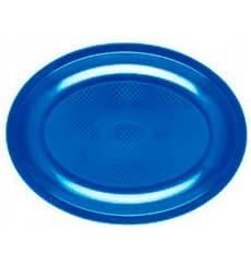 Bandeja Ovalada Azul Mediterraneo Round PP 305mm (300 Uds)