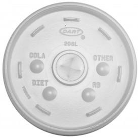 Tapa de plastico PS Translúcida con Cruz Ø11 cm (1000 Uds)