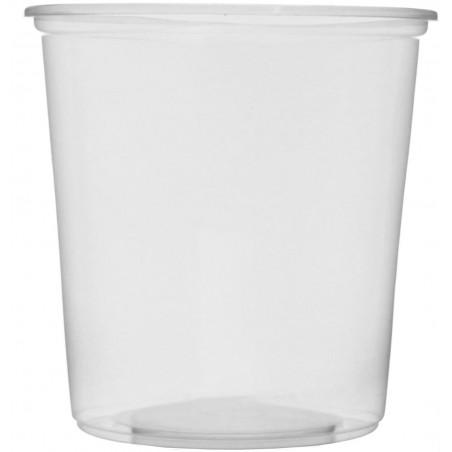 Tarrina de Plastico Transparente 500ml Ø10,5cm (50 Uds)