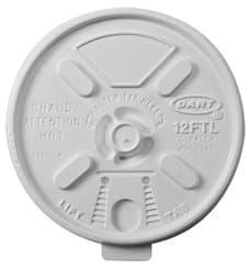 "Tapa de Plastico PS ""Lift n' Lock"" Blanca Ø8,9cm (1000 Uds)"