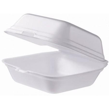 Envase Hamburguesa FOAM Gigante Blanca (100 Uds)