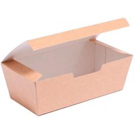Caja Comida para Llevar Kraft 16,5x7,5x6cm (600 Uds)