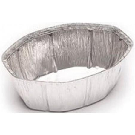 Recipiente Aluminio 2400ml Ovalado para Pollo (50 unidades)