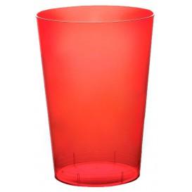 Vaso de Plastico Moon Rojo Transp. PS 230ml (1000 Uds)