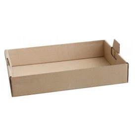 Bandeja Carton Kraft Marron 62x43,5x9,5 cm (1 Unidad)