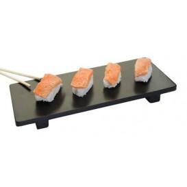 Bandeja de Bambú Negra para Sushi 30x11x2,5cm (1 Ud)