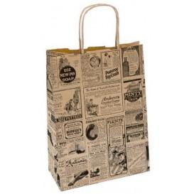 "Bolsa Papel Kraft con Asas ""Times"" 80g 20+10x29 cm (250 Uds)"