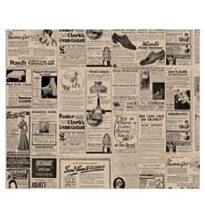Envuelta Antigrasa Kraft Periódico 31x31cm (1000 Unidades)
