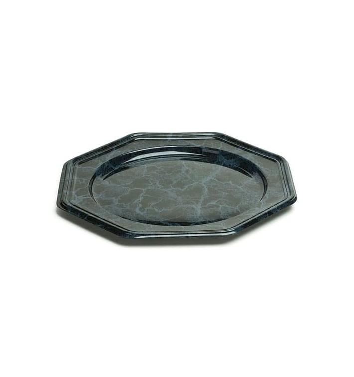 Bajoplato de Plastico Octogonal Mármol 30 cm (5 Uds)