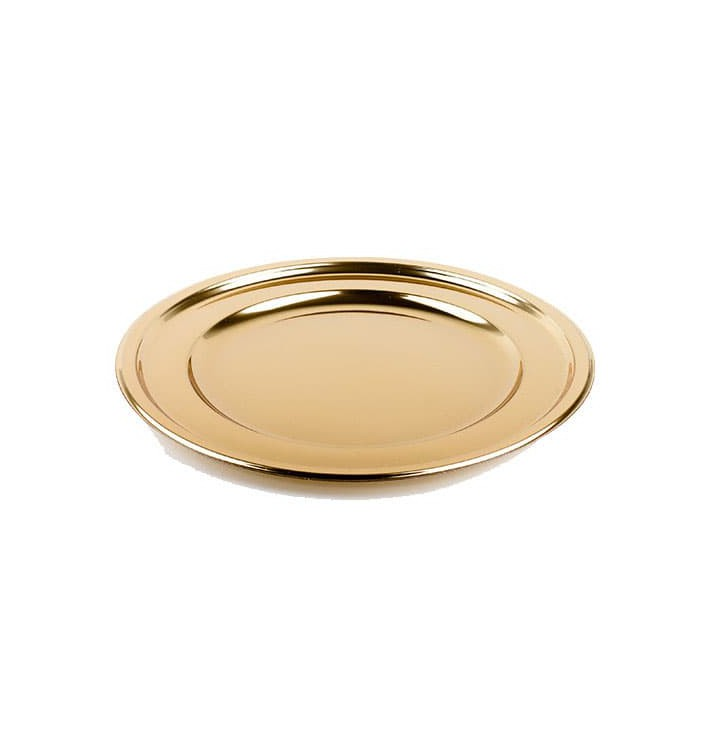 Bajoplato de Plastico Redondo Oro 30 cm (50 Uds)