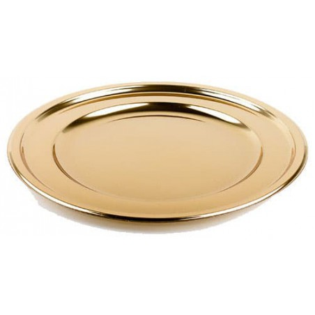 Bajoplato de Plastico Catering Redondo Oro 30 cm (50 Uds)