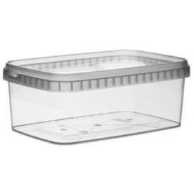 Envase Plástico y Tapa Inviolable 1200ml 192x126mm (13 Uds)