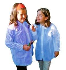 Bata Infantil Azul TST PP Con Velcro Sin Bolsillo (50 Uds)