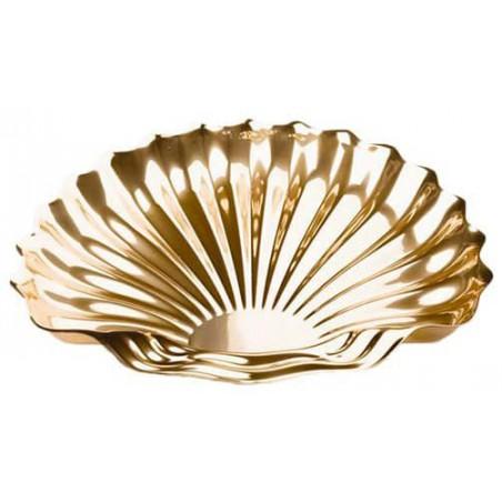 Bandeja Plastico Concha Oro 34x30 cm (50 Uds)
