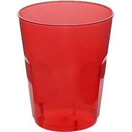 "Vaso Plastico ""Diamant"" PS Cristal Rojo 50ml (20 Uds)"